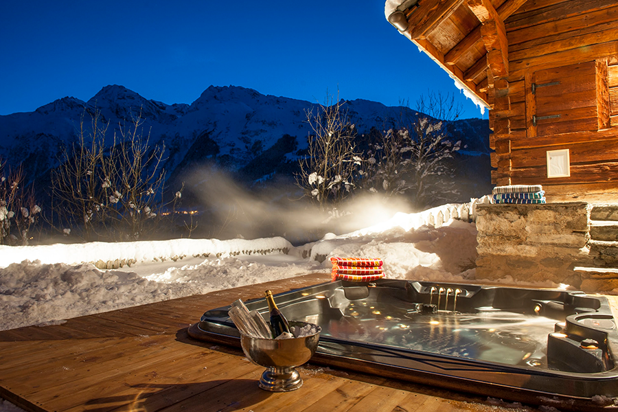 Chalet Merlo Hot Tub Sainte Foy