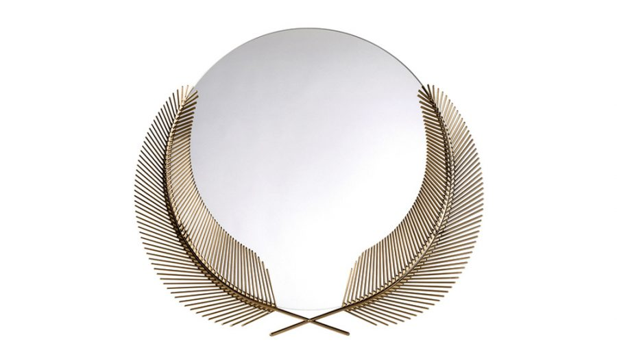 Wedding gifts - feather mirror