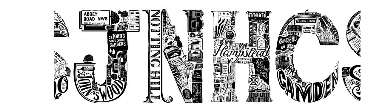 London Letters Illustration