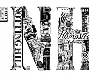 London Letters Illustration