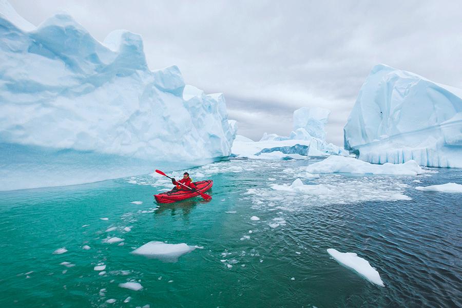 Antarctic kayak