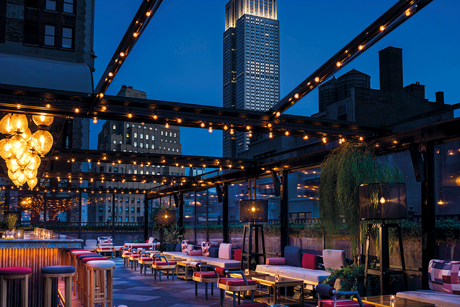 The Moxy New York East Patio