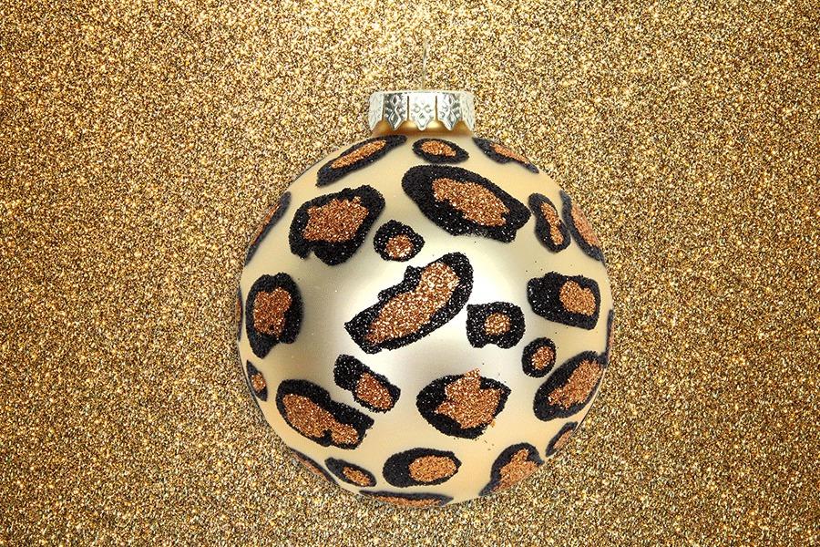 Gold leopard print bauble liberty london