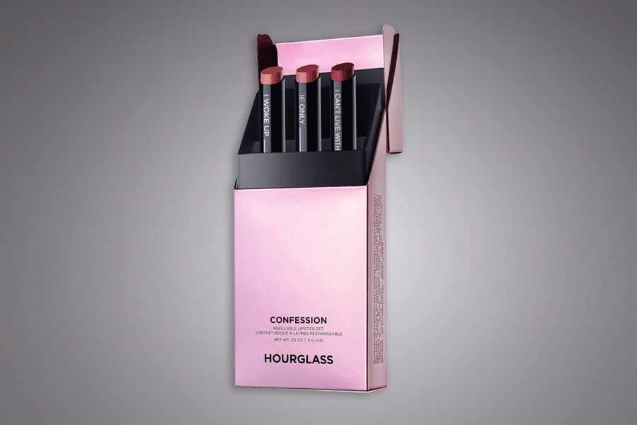 Hourglass Confession refillable lipstick set