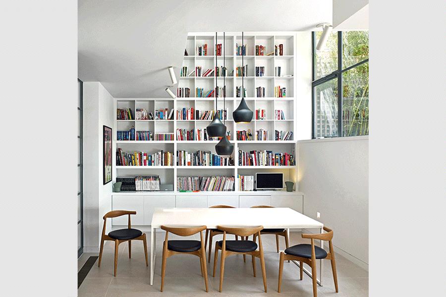 Stiff + Trevillion bookcase space - storage solutions