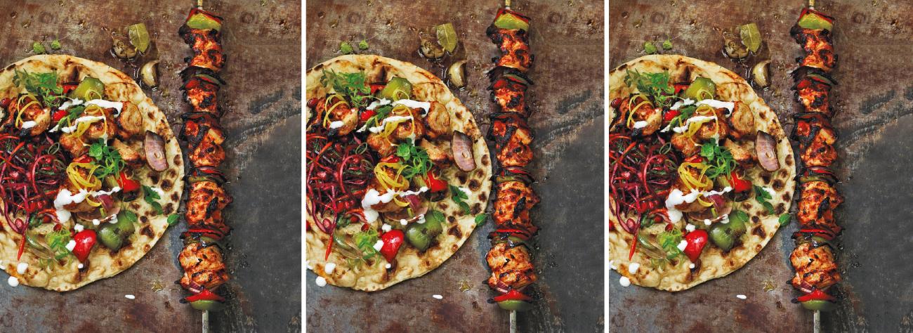 Buttermilk chicken shish kebab recipe London Fabric Magazine