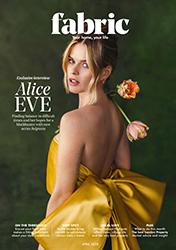 Alice Eve Fabric Magazine April 2020 Exclusive Interview