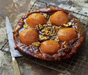 Pear and Walnut Upside-Down Tart