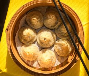 Bowl of dumplings london